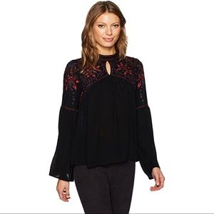 Parker Boho Peasant Embroidered Blouse